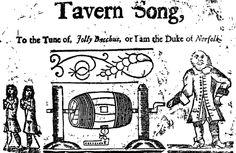 Tavern song. Harding ballads
