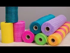 Crankin' Out Crafts -ep19 Deco Mesh Bow - YouTube