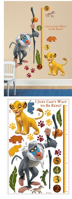 The Lion King Growth Chart Wall Decal - Wall Sticker Outlet