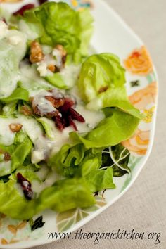 Butter Leaf Salad with Creamy Pear Vinaigrette   The Organic Kitchen Blog and Tutorials