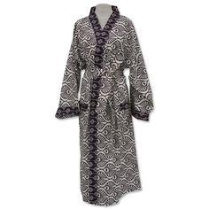 Peacock Plum Kimono Robe in 2 sizes