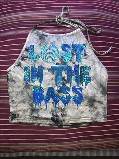 Lost In The Bass Holographic Tie Dye Rave Crop Top Edm Edm clothing EDCLV Bassnectar Basshead Lost lands Excision Bass center Electric forest Okeechobee