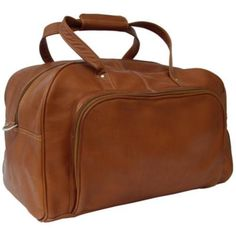 Piel Leather Deluxe Carry On Duffel 2358 Saddle Leather