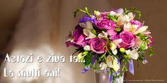 Felicitari de zi de nastere - Astazi e ziua ta... La multi ani! - mesajeurarifelicitari.com Happy Birthday Wishes, Happy Anniversary, Spring Flowers, Vows, Floral Wreath, Birthdays, Cards, 15 August, Facebook