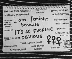 It is just so obvious. #feminism