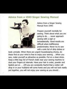 Ahhh I'm doing it all wrong! Apparently, sewing in my daggy pj's with bed hair and a messy house is simply not allowed ;)