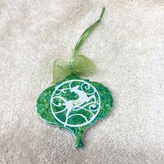 Christmas Tree Ornament, Ceramic - pinned by pin4etsy.com