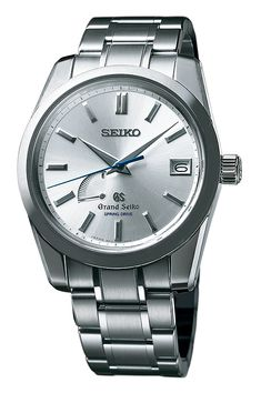 The @seikowatches Grand Seiko 1964 (Ref. SBGA103) is one of five new models that pay tribute to the 50th anniversary of a fondly remembered Grand Seiko from 1964; features a 39.9-mm-diameter stainless steel case and contains the Caliber 9R15 Spring Drive movement, which is characterized by a quartz oscillator powered by a traditional mechanical mainspring barrel system (shown with steel case/silvered dial/stainless steel bracelet and limited to 500 pieces). #seiko #watchtime #luxurywatch