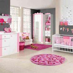 Chambre bébé fille en gris et rose - 27 belles idées à partager | Room