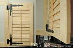 Shuttersy, okiennice drewniane wewnętrzne.