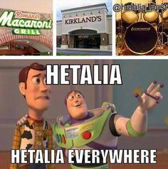 Hetalia is EVERYWHERE