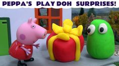 Peppa Pig Thomas and Friends Play-Doh Surprise Toys Pepa Story Surprise ... Peppa Pig, her friends and a selection of Thomas and Friends engines work overtime collecting  a lot of Play Doh surprises to open. I hope you enjoy looking at the surprises. #thomasandfriends   #thomas   #playdoh   #playdough   #playdohsurpriseeggs   #surpriseeggs   #peppapig   #peppa