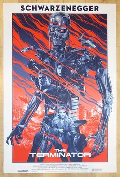 "2014 ""The Terminator"" - Silkscreen Movie Poster by Grzegorz Domaradzki (Gabz)"