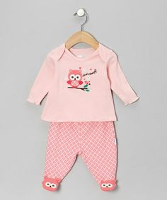 Take a look at this Pink 'Whoo's Sleepy' Footie Pajama Set - Infant by Vitamins Baby on #zulily today!