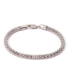 Sevil 925 Sterling Silver Textured Coreana Chain Bracelet | zulily