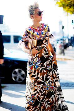 Esther Quek; printed dress