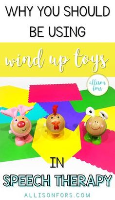 Wind up toys are an item that every pediatric SLP should have in their toolbox for speech therapy! It's a versatile, inexpensive toy that kids love!