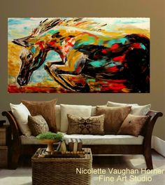 SALE ORIGINAL Abstract Oil gallery wrap by artmod on Etsy