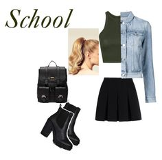 """""""School"""" by bellamia2005 ❤ liked on Polyvore featuring Topshop, Alexander Wang, Hershesons, Sole Society and 3x1"""