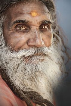 the eyes. what an expression. it seems to me is truth in them . I think I can see wisdom here .  chapeau, dear sadhu
