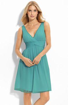 Donna Morgan Twist Silk Chiffon Dress | Nordstrom