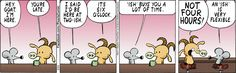 """Pearls Before Swine"" comic strip for February 24, 2017.  I think this is really cute. . . .  I use ""ish"" a lot myself, so I can relate."