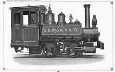 S.D. Warren & Co. paper mill.   Built by               Baldwin Locomotive Works, 0-4-0T, 1895
