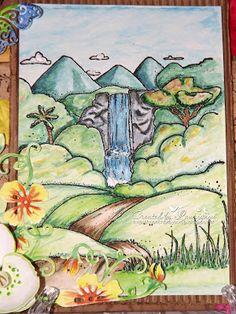 Mon chat by scrap : Aquarelle Sennelier Sennelier Watercolor, Scrapbooking, Painting, Art, Art Background, Painting Art, Kunst, Paintings, Performing Arts