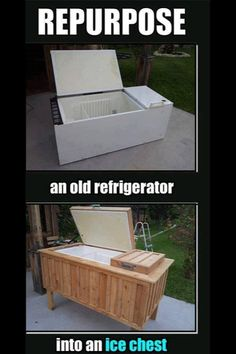 Who would have thought you could repurpose a fridge - Check out our ReStore for Materials!