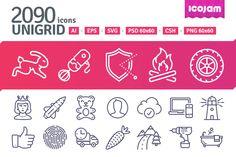 2090 icons in UniGrid set by Icojam on Creative Market