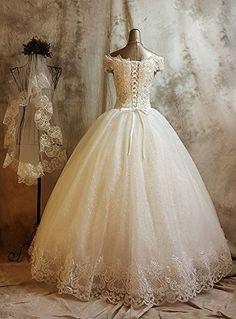 Gold Long Sleeves Wedding Dresses Ball Gowns Lace Embroidery ...