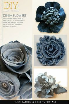 SEWING - FABRIC FLOWERS on Pinterest   44 Pins