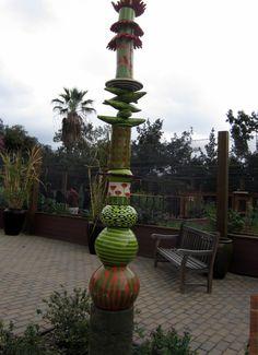 Leslie Codina ceramic sculpture at LA Arboretum