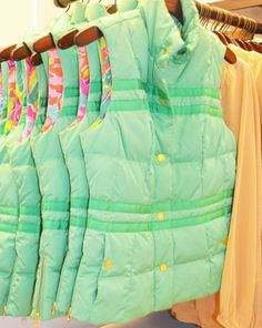 Lilly Pulitzer Resort '13- Kate Puffer Vest in Spearmint... Great schooling outfit