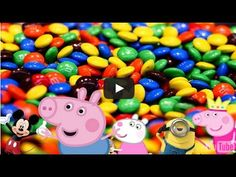 Peppa Pig Minions,Learn To Count 1 to 10 with Candy Numbers with Smartie...