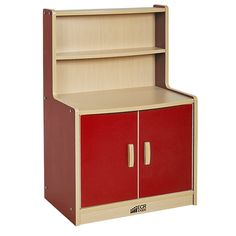 ELR-0745-RD Colorful Essentials Play Kitchen Cupboard - Red