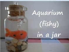 Miniature Bottle Charms: Aquarium (FISHY) in a jar