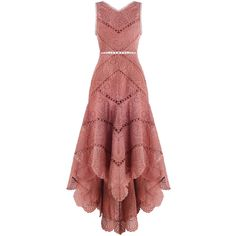 ZIMMERMANN Jasper Fan Dress (€435) ❤ liked on Polyvore featuring dresses, vestidos, long dress, summer midi dresses, summer day dresses, embroidery dresses, red dress and long swim dress