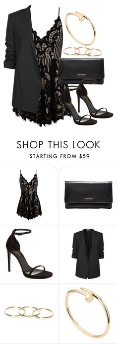 """Style #11039"" by vany-alvarado ❤ liked on Polyvore featuring Sans Souci, Yves Saint Laurent, Helmut Lang and Cartier"