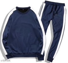 Tracksuits Sleek Style Men's Tracksuits  Fabric: Polyester  Sleeves: Sleeves Are Included  Size: S - Top - Chest - 38  in Length - 27 in Bottom - Waist - 30 in M - Top - Chest - 40 in Length - 28 in Bottom - Waist - 32 in L - Top - Chest - 42 in Length - 29 in Bottom - Waist - 34 in   XL - Top - Chest - 44 in Length - 29.5  in Bottom - Waist - 36 in   XXL - Top - Chest - 46 in Length - 30 in Bottom - Waist - 38 in Type: Stitched Description: It Has 1 Piece Of  Men's Top & 1 Piece Of Bottom Pattern :Solid Country of Origin: India Sizes Available: S, M, L, XL, XXL *Proof of Safe Delivery! Click to know on Safety Standards of Delivery Partners- https://ltl.sh/y_nZrAV3  Catalog Rating: ★4 (2939)  Catalog Name: Divine Sleek Style Men's Tracksuits Vol 8 CatalogID_741186 C70-SC1402 Code: 117-5041506-