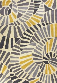 Handmade Abstract Pattern Gold/ Grey - Overstock Shopping - Great Deals on - Rugs Surface Pattern Design, Pattern Art, Abstract Pattern, Yellow Pattern, Abstract Shapes, Graphic Patterns, Textile Patterns, Print Patterns, Yellow Area Rugs