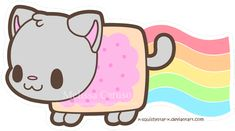 Squishy Nyan Cat by =x-SquishyStar-x on deviantART Nyan Cat, Kawaii Anime, Kawaii Cat, Kawaii Drawings, Cute Drawings, Anime Animals, Cute Animals, Chibi, Gato Gif