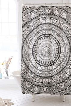 Medallion Shower Curtain #medallion