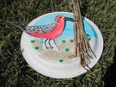 Delaware National Estuarine Research Reserve created this fun, shorebird art activity. Migratory Birds, Bird Crafts, Shorebirds, School Programs, New Theme, Art Activities, Delaware, Crafts For Kids, Study