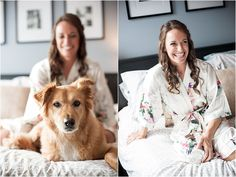 This Chicago wedding at Old St. Pats captured the couples unique personality. Their big day included romantic white and blush florals with a navy blue scheme, a team spirit inspired cake and of course their dog! Photos by Orange2 Photography