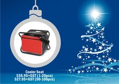 Cooler Bag Seat The cooler bag seat makes a great corporate gift. Available in Red and royal Blue. These can be screen-printed or embroidered with your message or corporate logo. For corporate gift ideas talk to Wizid Promotions by calling 1300 4 WIZID. Picnic Set, Great Christmas Gifts, Corporate Gifts, Promotion, Messages, Gift Ideas, Prints, Royal Blue