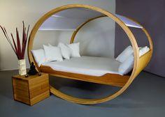 Betten - Schaukelbett Private Cloud® für 160x200cm Matratze - ein Designerstück von mkloker bei DaWanda