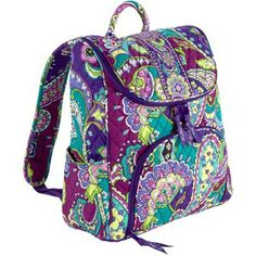 920841ff8e9 Vera Bradley Double Zip Backpack Vera Bradley, Paisley Pattern, Catalog,  What To Wear