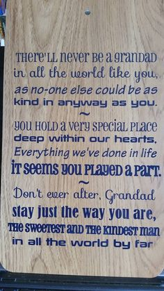 Grandparent/Pop quote wooden laminate board. available through Branding by Bec on facebook or website http://www.brandingbybec.com.au