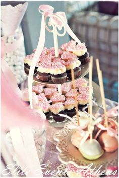Candy/Sweets/Dessert, dresses, dancing, ballet, baby girl, white, pink Baptism Party Ideas | Photo 26 of 53 | Catch My Party